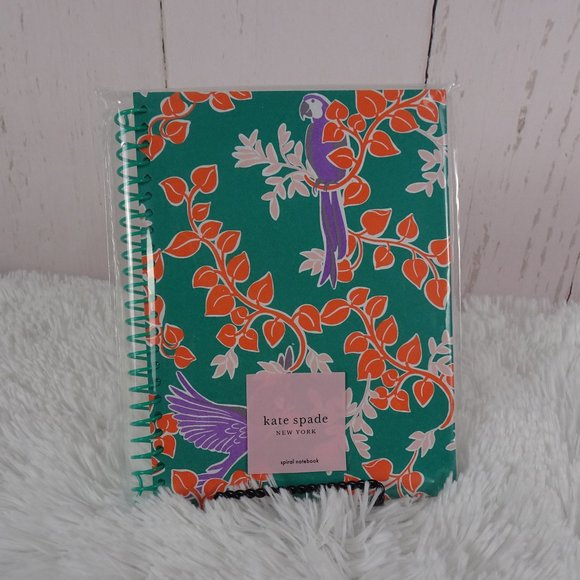 Kate Spade Other - New! Kate Spade BIRD PARTY Green Spiral Notebook